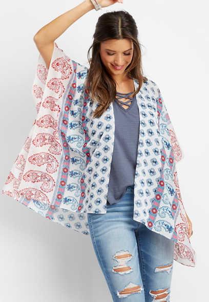 6b2231536097e open front border print kimono