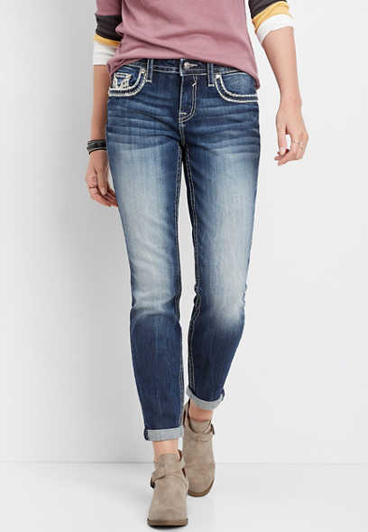 Vigoss® dark wash boyfriend jean