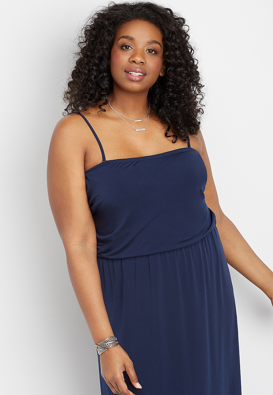 4913ded07b plus size solid tube top maxi dress