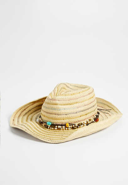 stripe cowboy hat