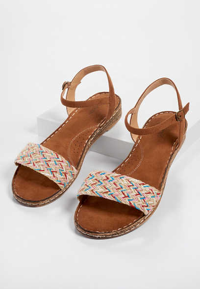 Ariana woven multi ankle flats