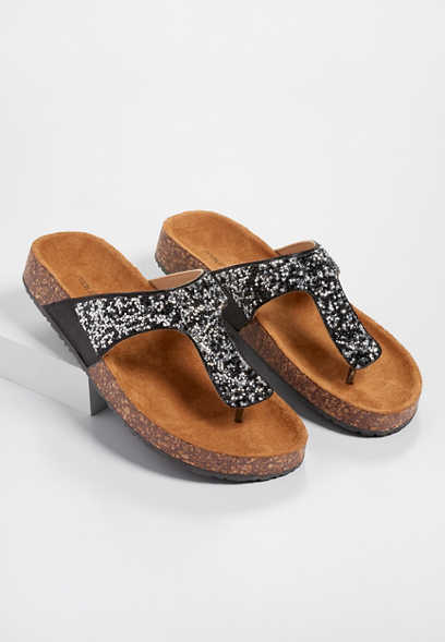 5d13bfcf82549 Annika rhinestone thong molded footbed sandal