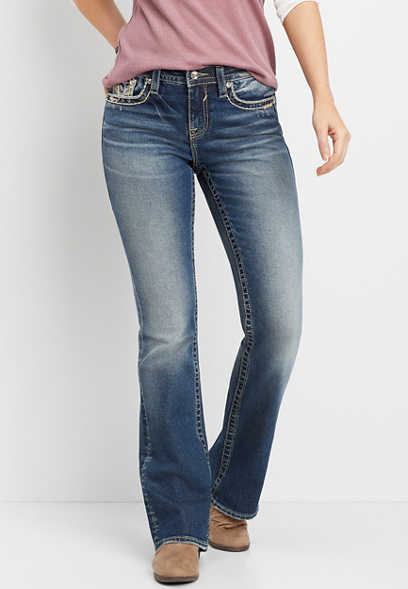 Vigoss® dark wash high rise bootcut jean