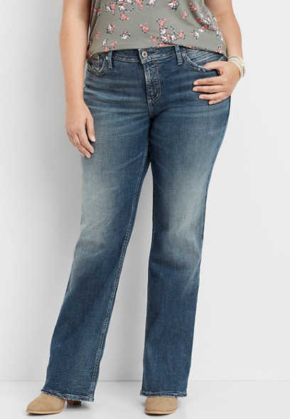 plus size Silver Jeans Co.® Suki medium wash bootcut jean