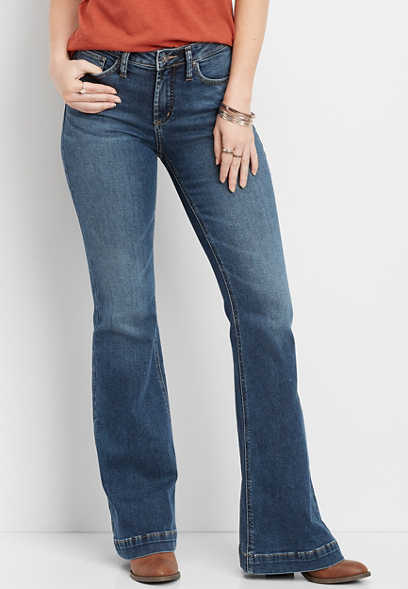 Silver Jeans Co.® high rise medium wash flare jean