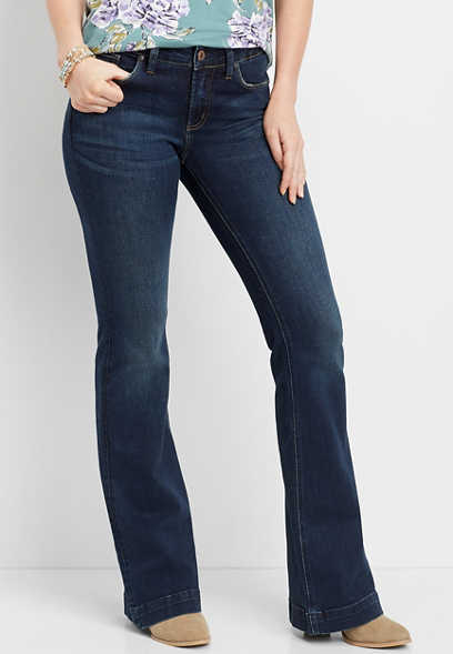 Silver Jeans Co.® high rise dark wash flare jean