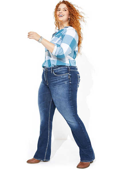 plus size Silver Jeans Co.® Avery slim boot jean
