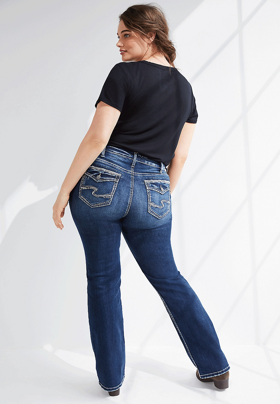 sale retailer wholesale dealer cost charm plus size Silver Jeans Co.® Avery slim boot jean | maurices