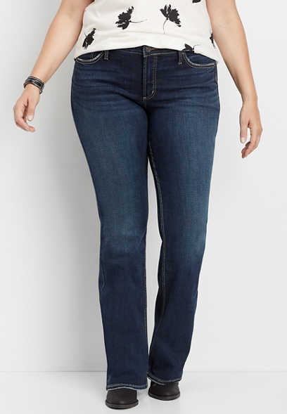 plus size Silver Jeans Co.® Suki dark wash slim boot jean