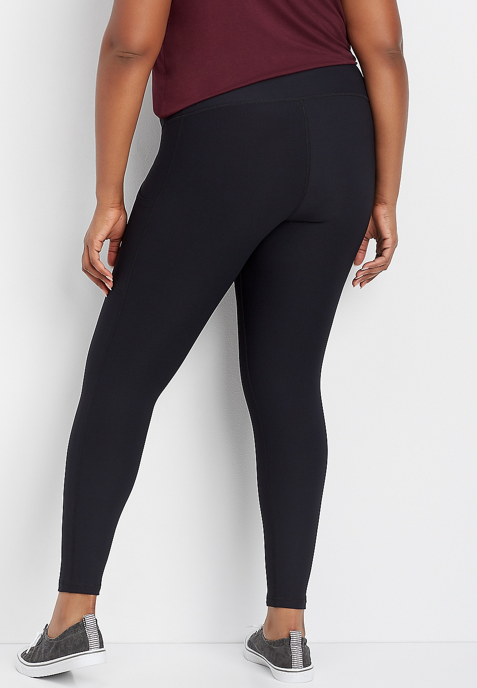 859db143266fc plus size solid side pocket legging | maurices