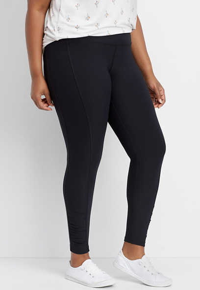 plus size ruched ankle legging