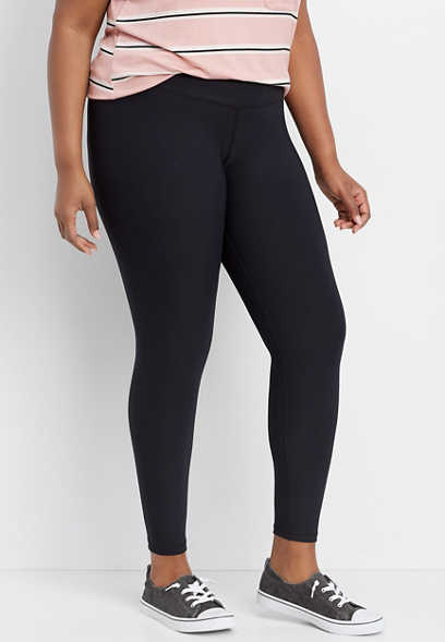 plus size crossover front waistband legging
