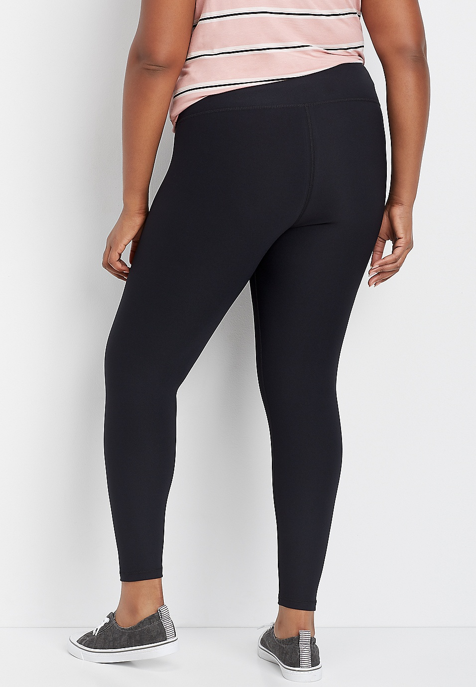 50d5767055 plus size crossover front waistband legging | maurices