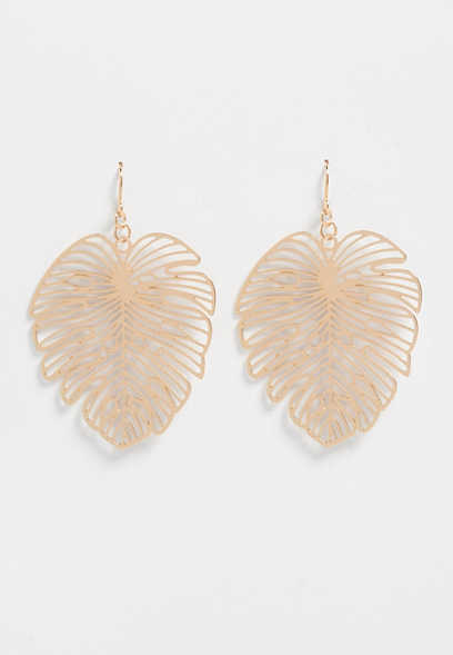 philodendron drop earring