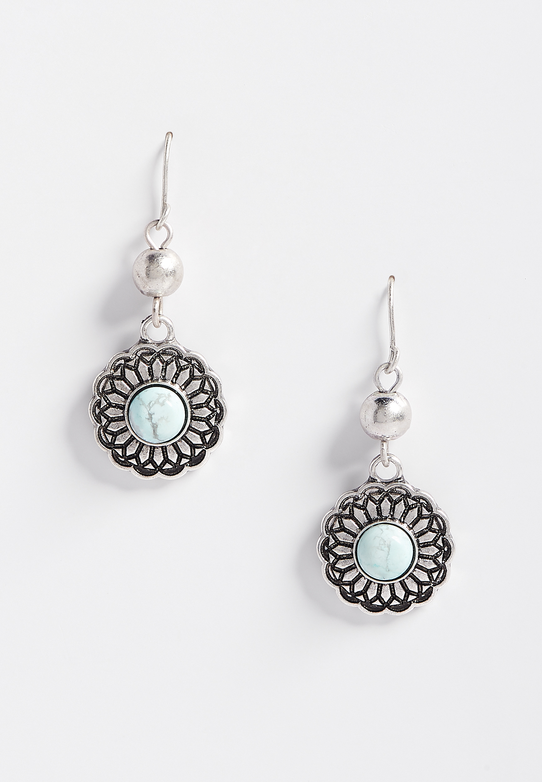 Blue Stone Drop Earring by Maurices