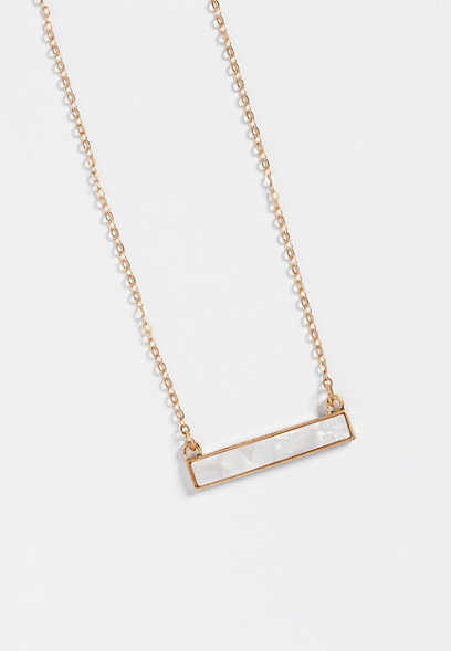 dainty ivory bar necklace