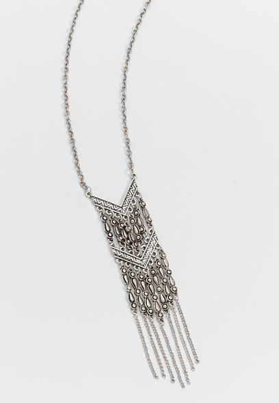 chevron fringe necklace