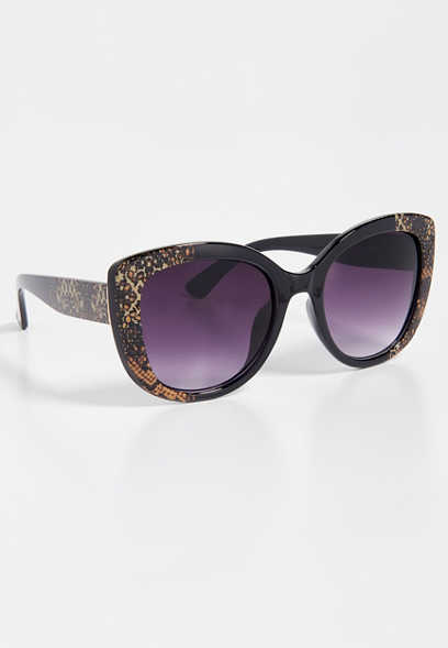 snake print cat eye sunglasses