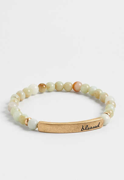 blessed stretch bracelet
