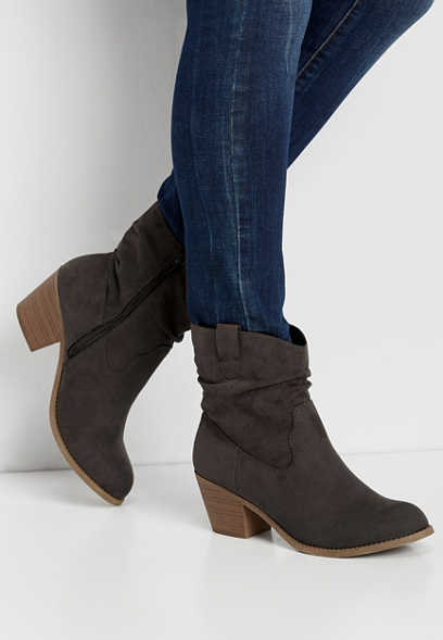 Ria mid-calf scrunch boot