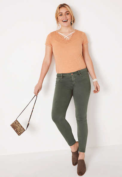 DenimFlex™ olive color jegging