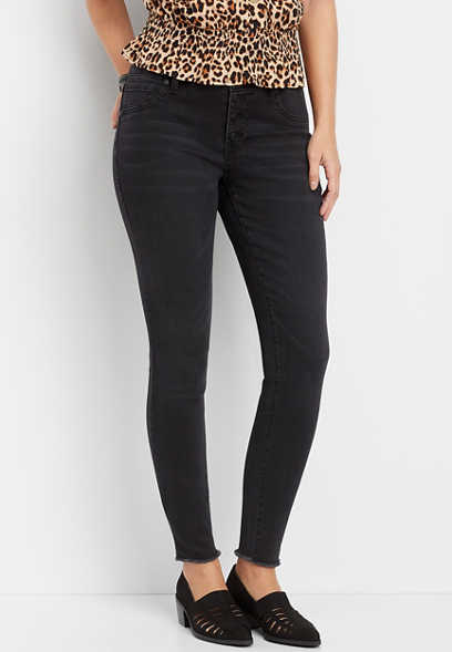 DenimFlex™ black high rise button fly jegging