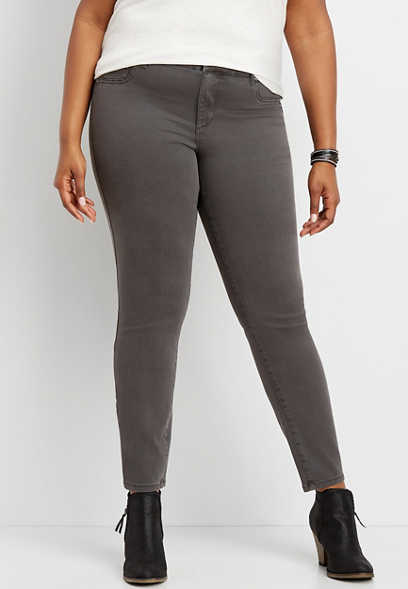 plus size DenimFlex™ slate color jegging