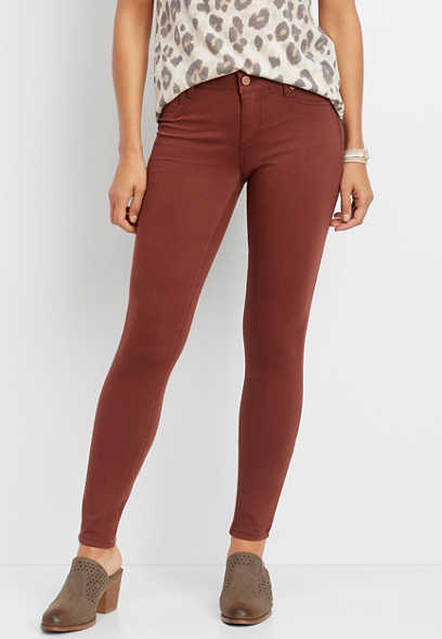 DenimFlex™ rust color jegging