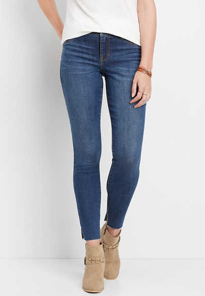 DenimFlex™ medium double split hem jegging