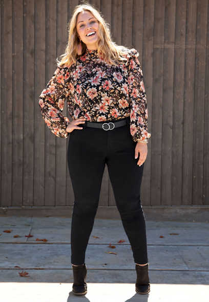 Plus Size DenimFlex™ Black Color Jegging