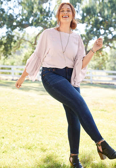 plus size DenimFlex™ super dark blast jegging