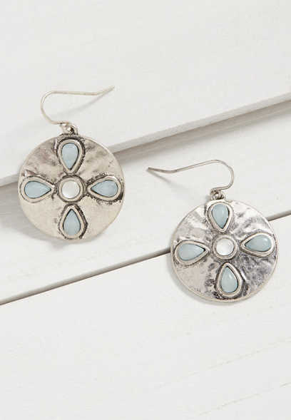 Silver Jeans Co.® blue flower earring