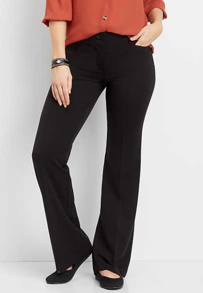 classic black wide leg pant
