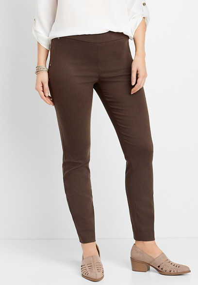 pull on bengaline skinny ankle pant