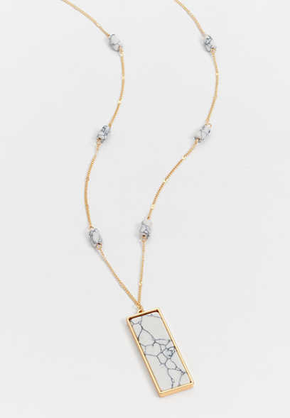 rectangular pendant necklace