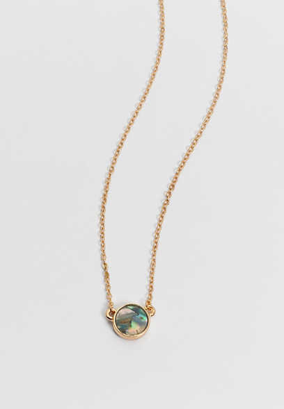 dainty faux shell necklace