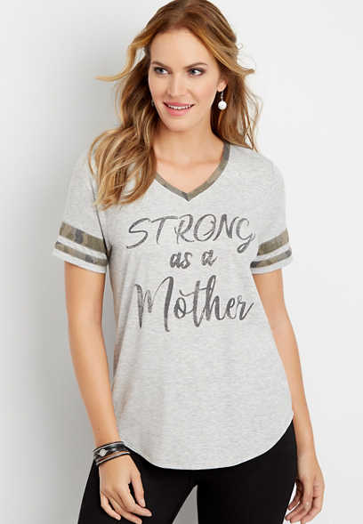 strong as a mother graphic tee