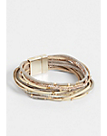 multi row thin magnetic bracelet