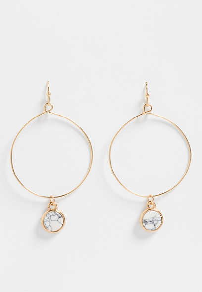 howlight circle hoop earrings