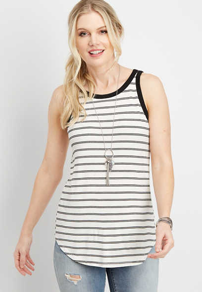 24/7 stripe high neck tank