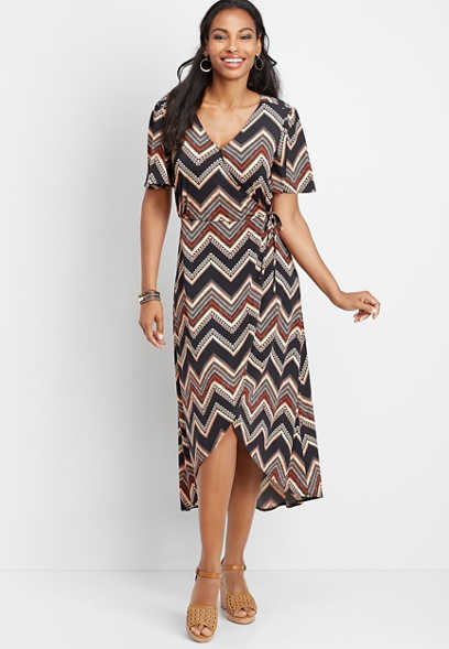 chevron wrap dress
