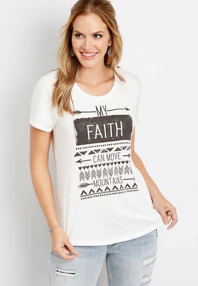 faith can move mountains graphic tee