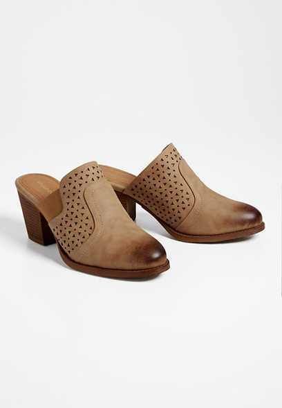 Bailey laser cut mules