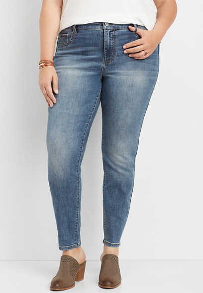 plus size DenimFlex™ medium wash high rise jegging