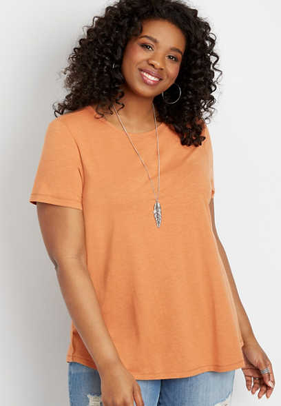 plus size 24/7 crew neck tee