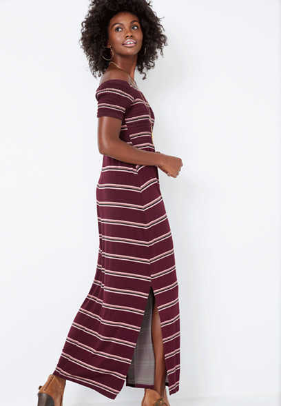 54859de8 24/7 stripe smocked maxi dress