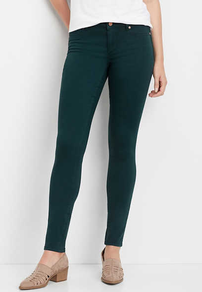 DenimFlex™ teal color jegging