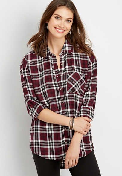 0c28bae7 Plaid & Button Down Shirts | maurices
