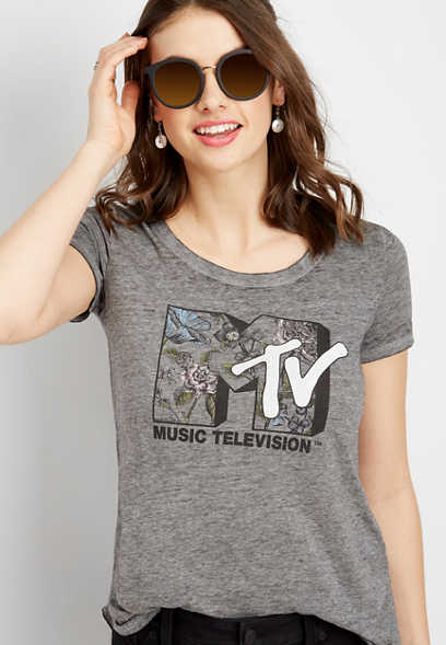 MTV floral fill graphic tee