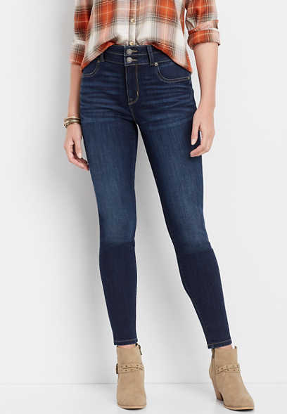 DenimFlex™ super high rise dark wash jegging
